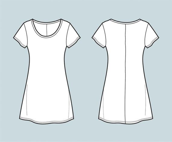 vector stock Dress top t shirt. Vector clothing flat