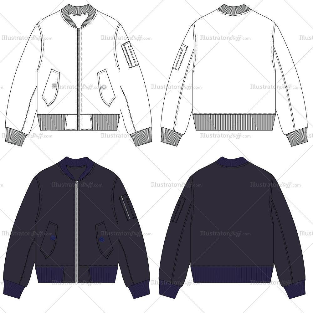 png free Pin on fashion flat. Vector clothing flight jacket