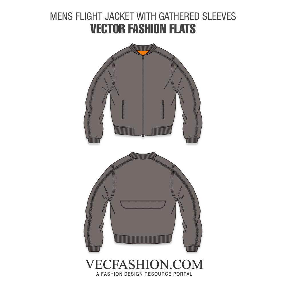 graphic freeuse stock Coats jackets tagged vecfashion. Vector clothing flight jacket