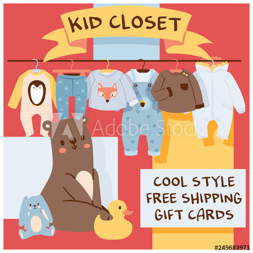 png freeuse library Vector clothing garment shop. Baby cartoon kids toys