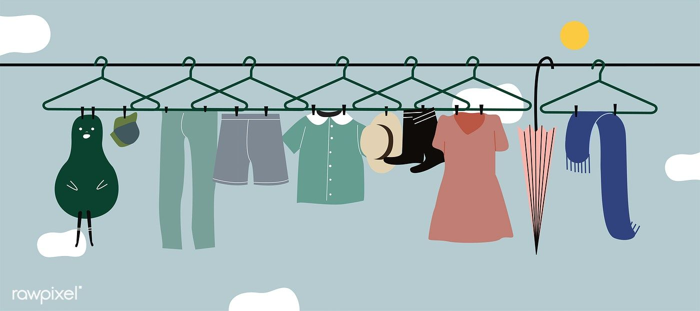 jpg transparent download Washed hanging on the. Vector clothing hanged clothes