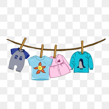jpg free library Vector clothing hanged clothes. Baby png images and