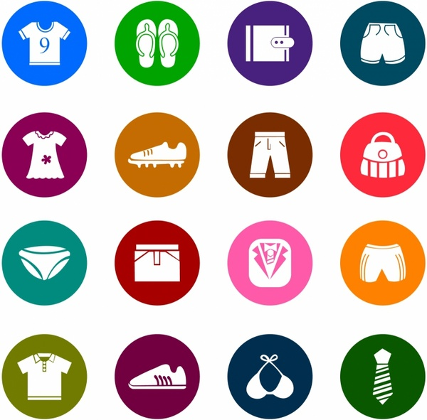 banner library And accessories color icons. Vector clothing icon