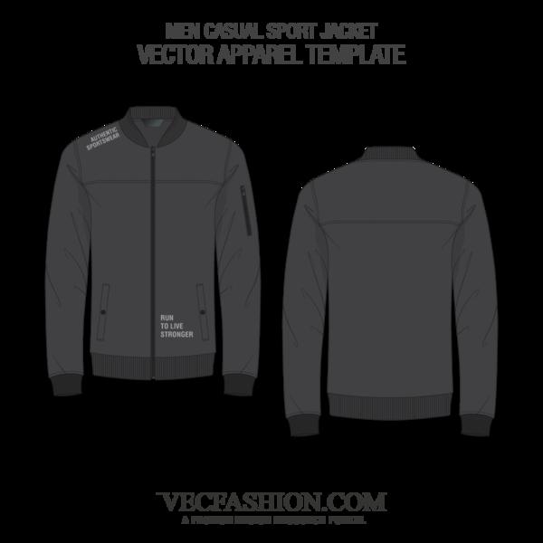 graphic download Vector clothing men's. Men casual sport jacket