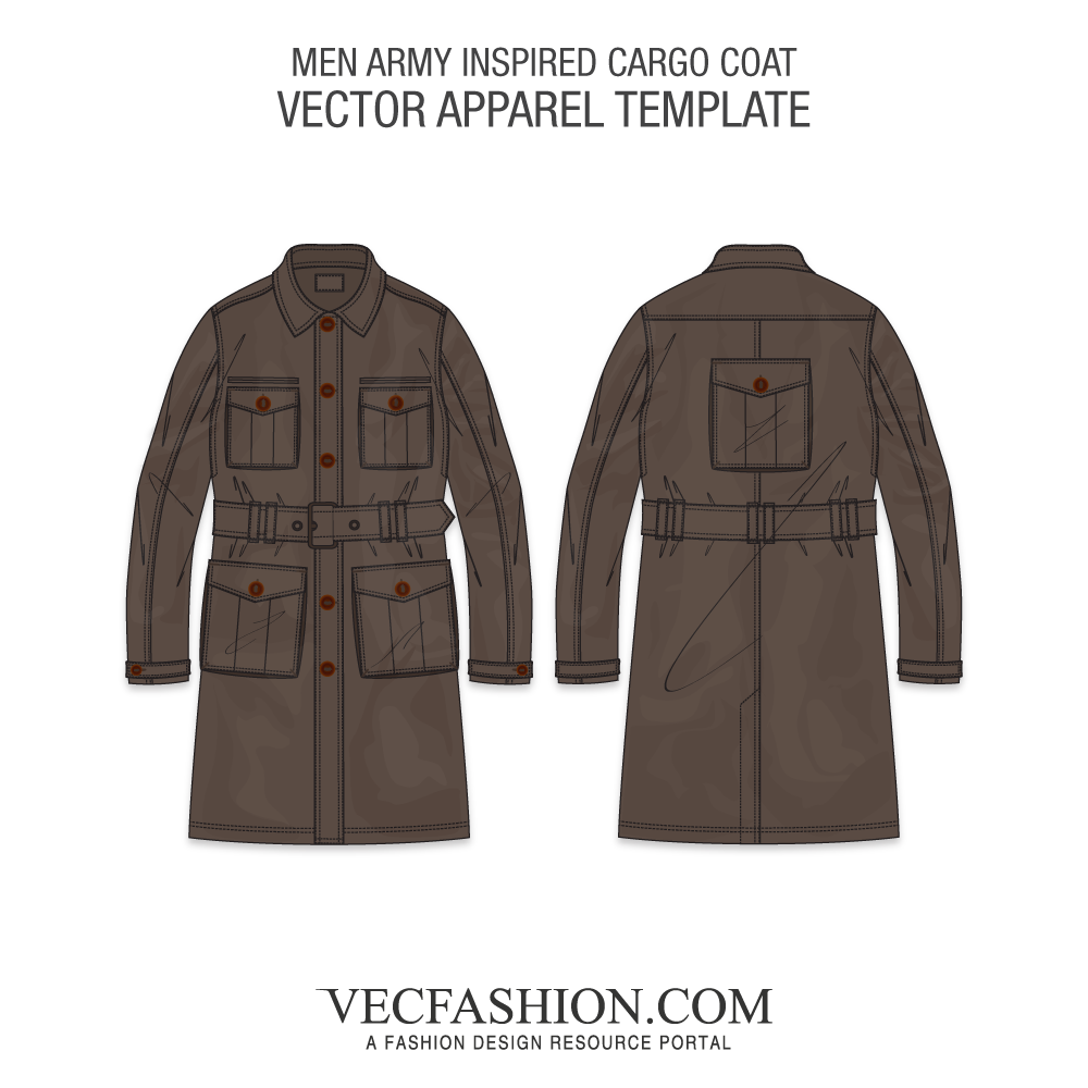 graphic free download Vector clothing military jacket. Products tagged vecfashion army