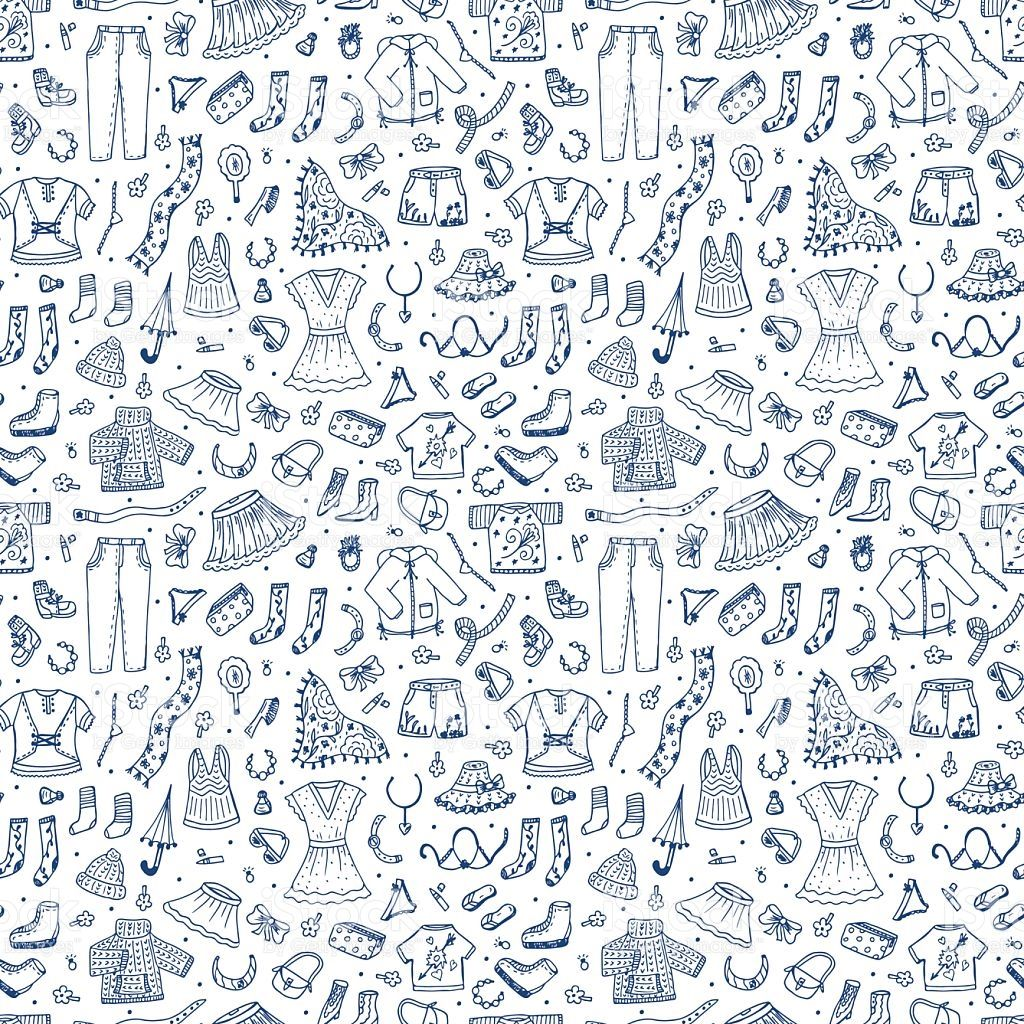 picture freeuse Spring and summer fashion. Vector clothing pattern