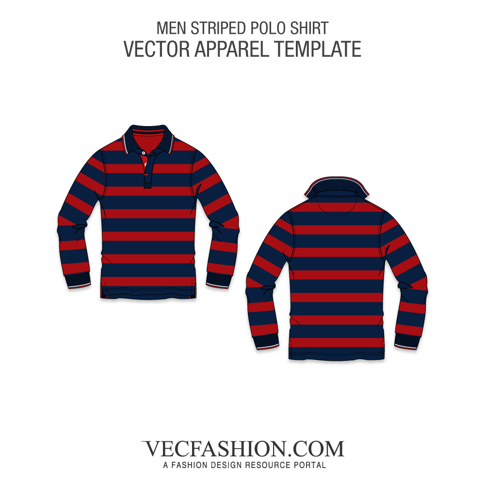 picture download Vector clothing plaid shirt. Striped polo full sleeved