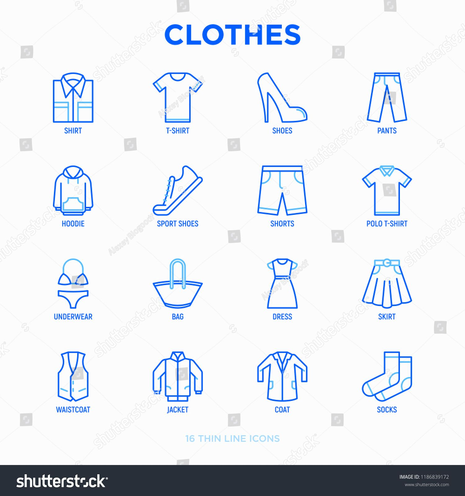 clipart library stock Vector clothing shirt pant. Pin on infographic templates