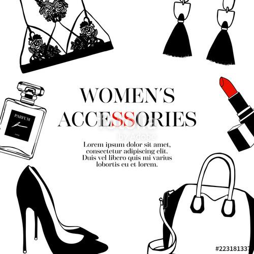 jpg library stock Vector clothing shoe. Fashion women s set