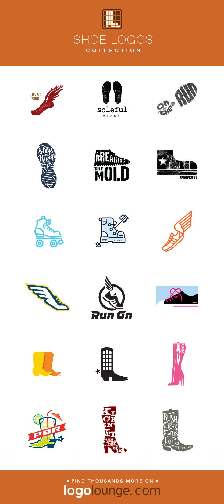 graphic transparent library Logo collection designs feet. Vector clothing shoe