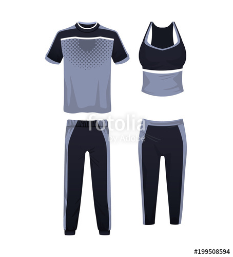 jpg free library Sport wear for mens and womens vector illustration graphic