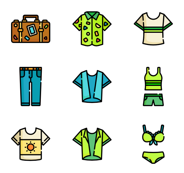 clipart library stock Clothes icons free. Vector clothing summer