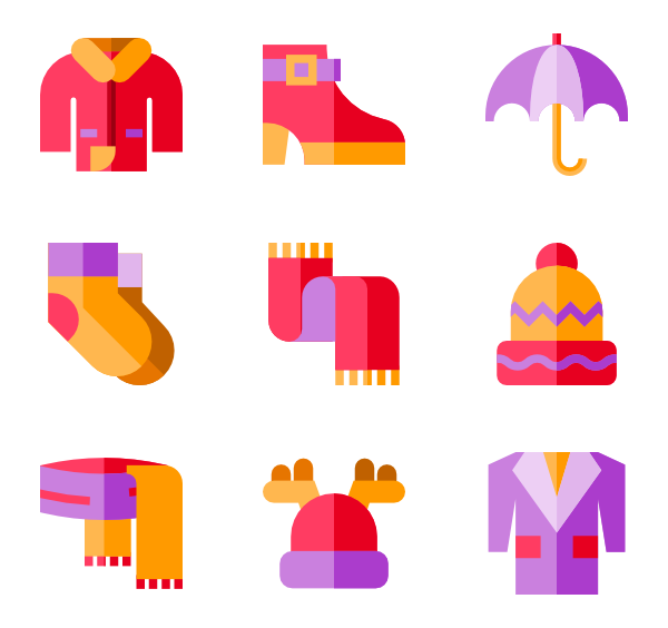 clipart royalty free stock Vector clothing winter.  icon packs svg