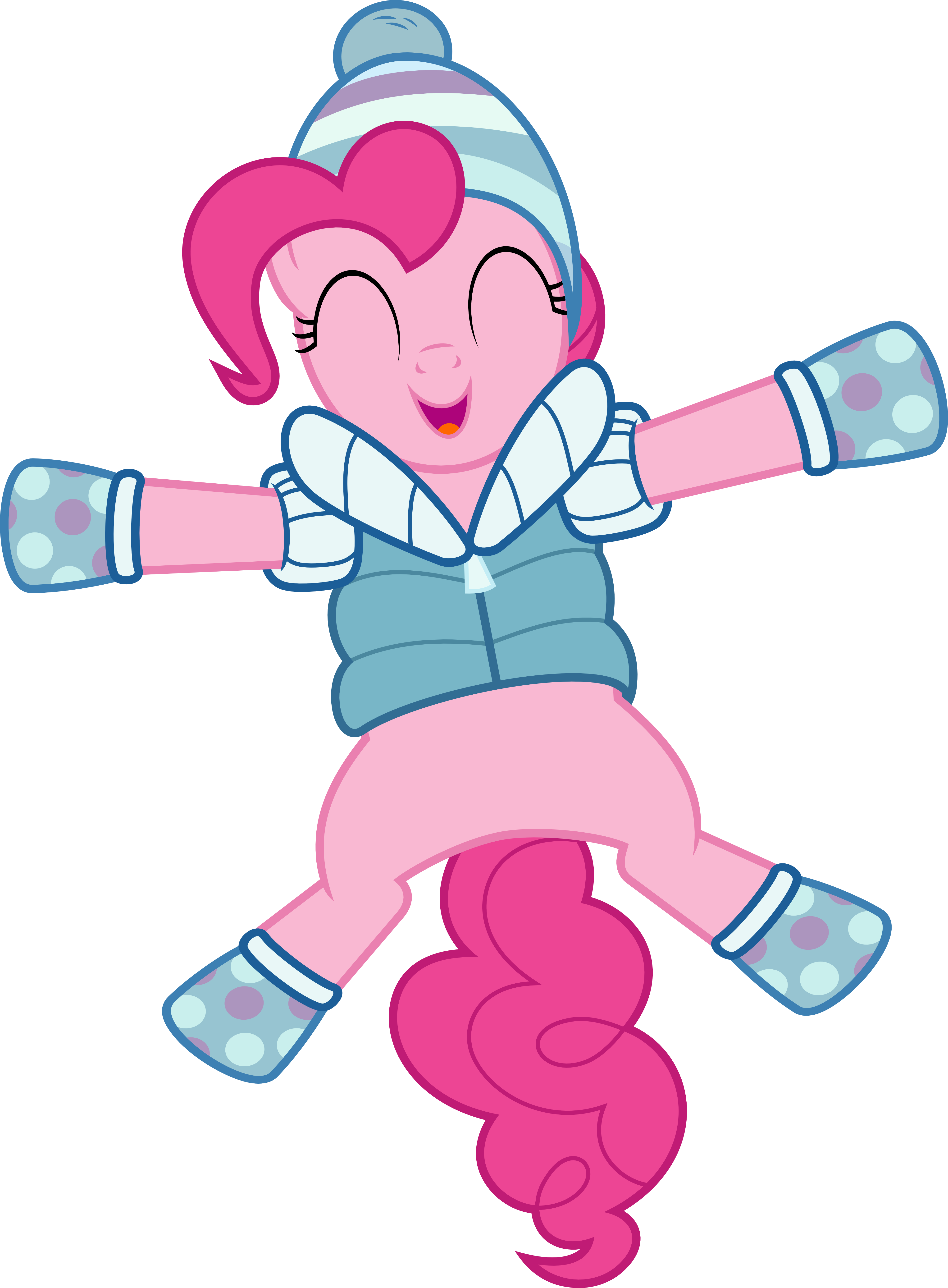 graphic transparent stock Pinkie pie making a. Vector clothing winter