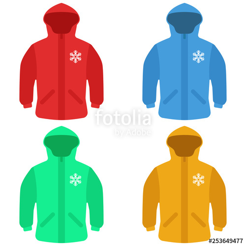 svg free library Jackets set of . Vector clothing winter