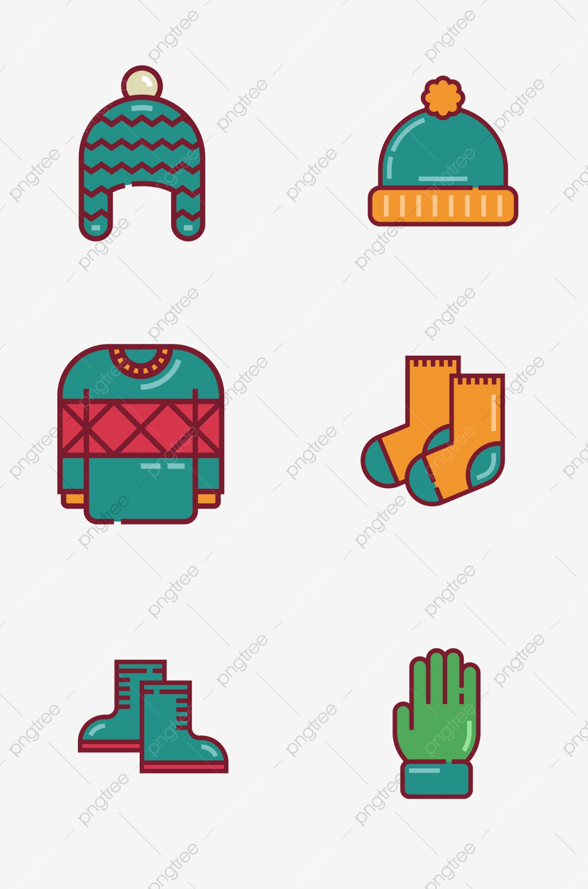 image freeuse library Vector clothing winter. Prototype keep warm hat