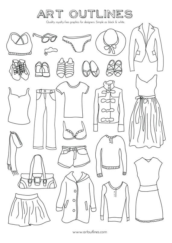 jpg freeuse Clothes Illustration Ideas