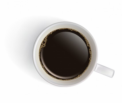 picture royalty free library White Cup With Black Coffee