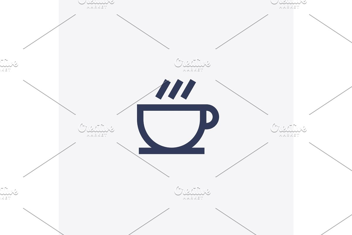 clipart freeuse Or tea cup icon. Vector coffee abstract