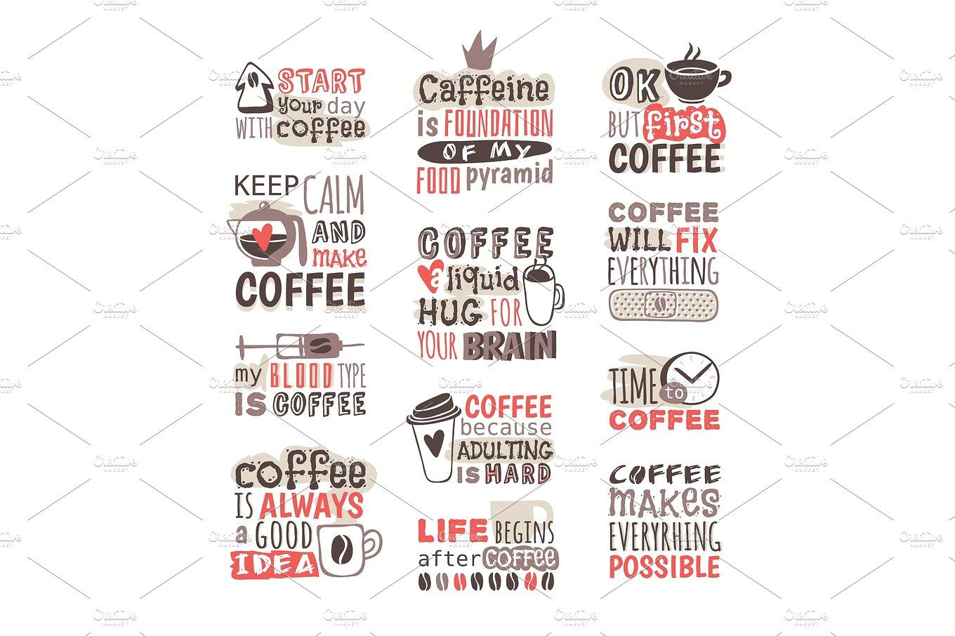 image transparent library Vector coffee badge. Hand drawn labels sticker