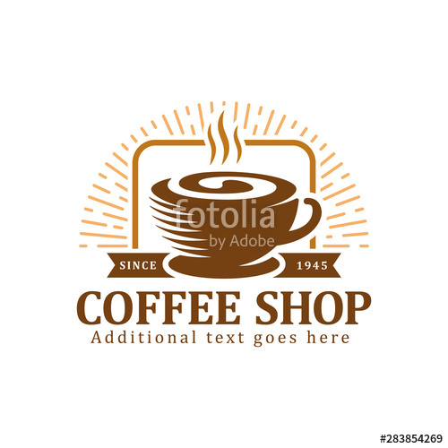 png library stock Vector coffee badge. Logo label or emblem