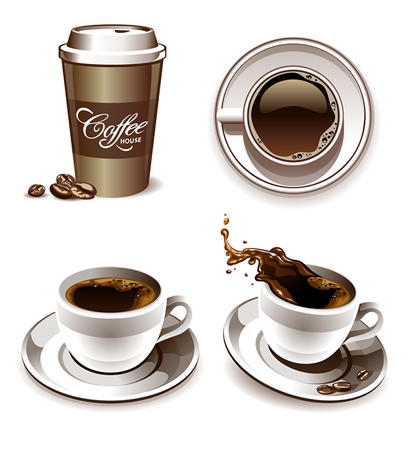 graphic library stock Coffee Vectors on Behance