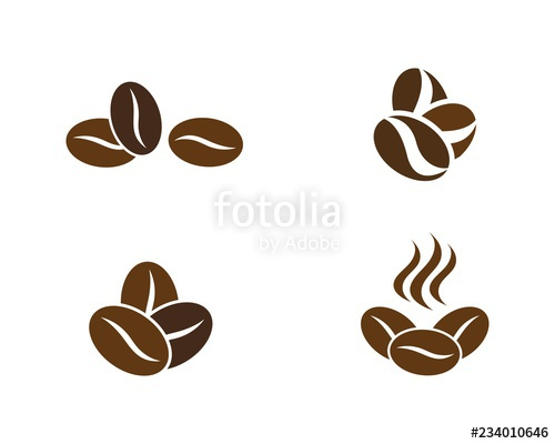 picture library download Beans icon stock image. Vector coffee bean
