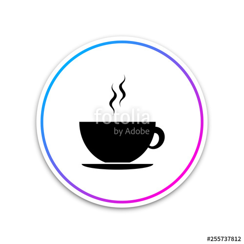 png free download Vector coffee circle. Cup icon isolated on