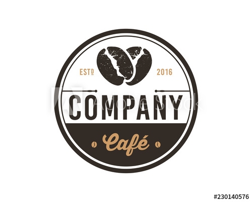 jpg black and white library Silhouette bean sign symbol. Vector coffee circle