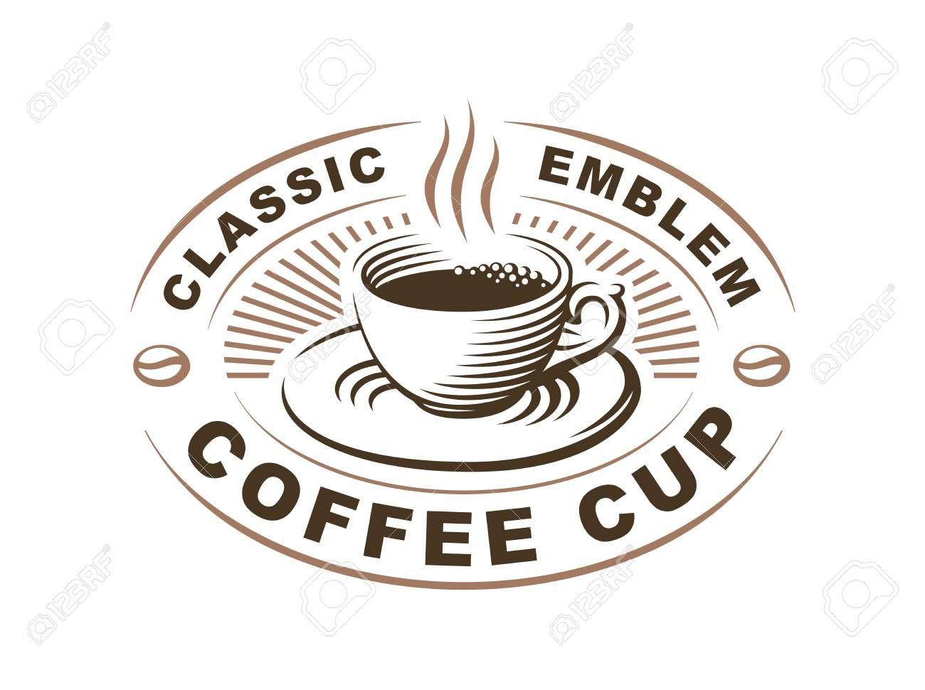 svg transparent Vector coffee classic. Cup logo illustration emblem