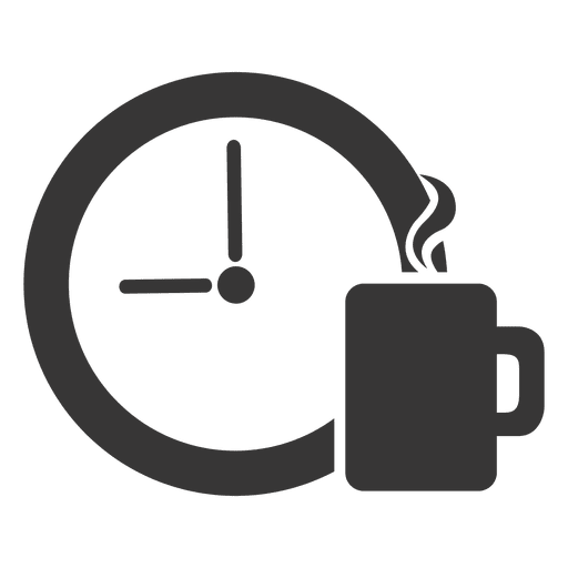 image transparent stock Time icon transparent png. Vector coffee clock
