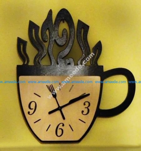 picture stock Cup graphic design . Vector coffee clock