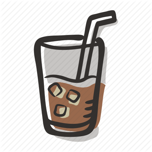 clip art transparent library Vector coffee cold. Tea and colored by