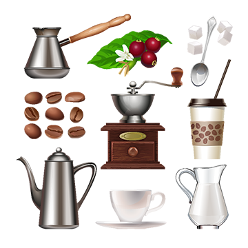 royalty free stock Hot drink png vectors. Vector coffee cold