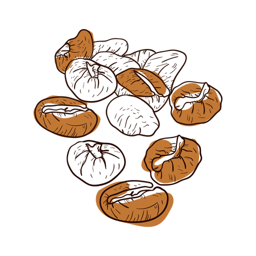 clipart freeuse stock Bean drawing hand drawn. Coffee beans transparent png