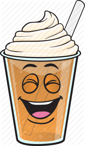 svg black and white stock Emoji cartoons by toons. Vector coffee iced