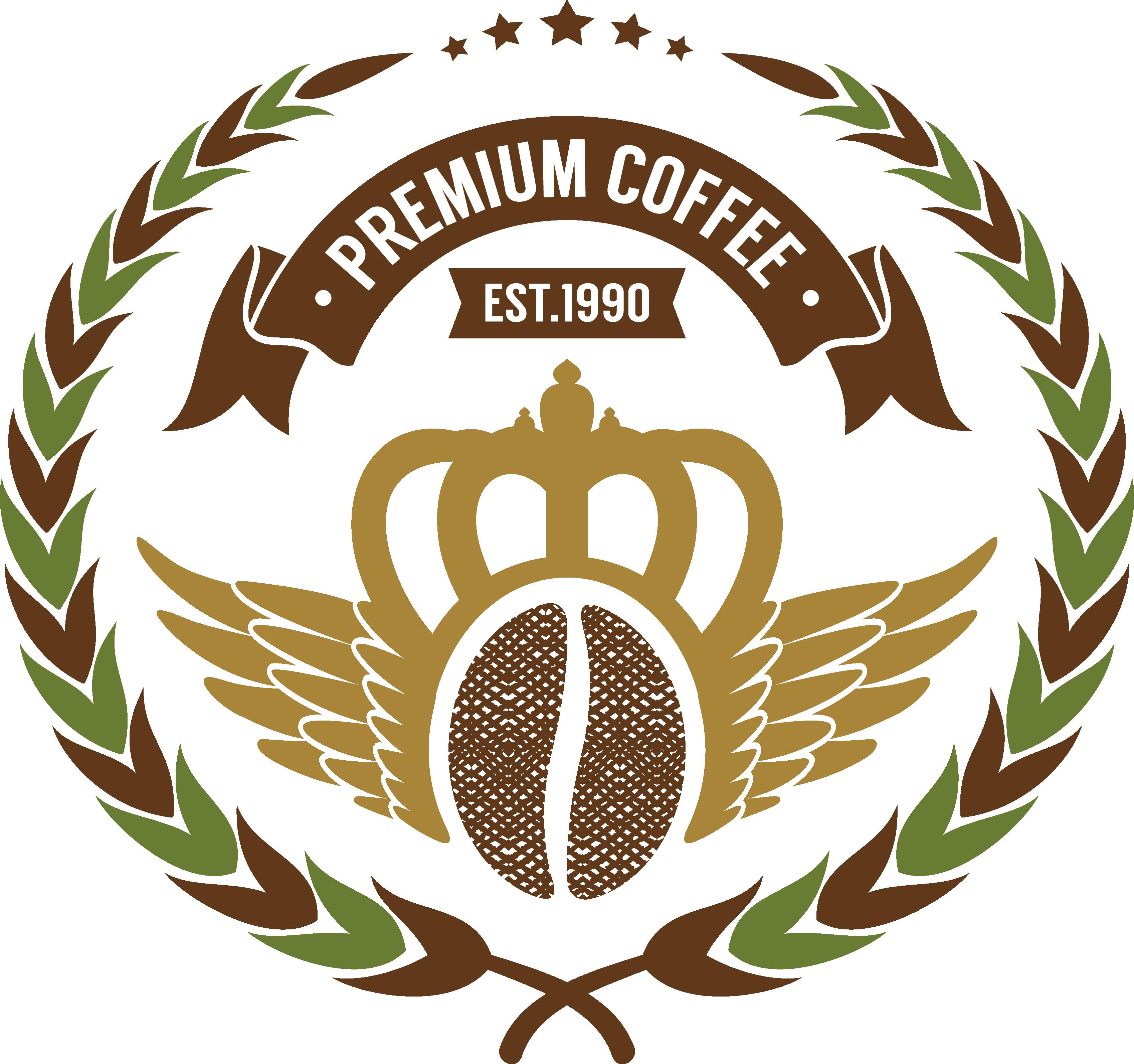 svg transparent Bean cafe design transprent. Vector coffee label