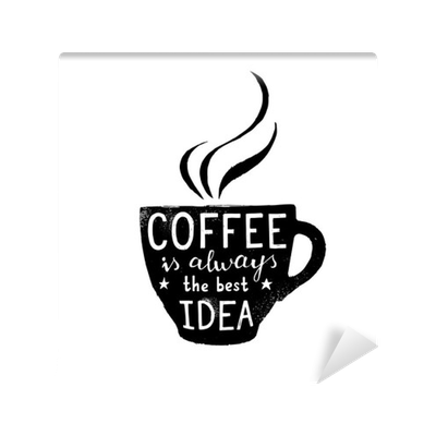 clipart free library Vector coffee lettering. Illustration of cup with