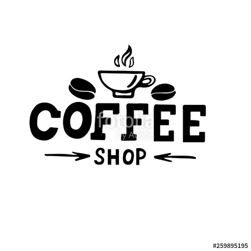 clipart library stock Vector coffee lettering. Stock image and royalty