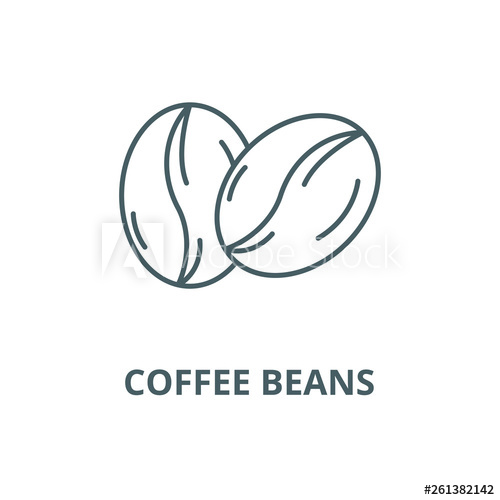 clip royalty free library Beans line icon sign. Vector coffee outline
