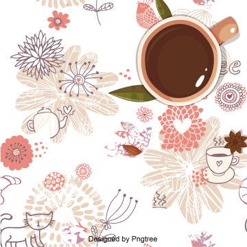 svg freeuse Vector coffee pattern. Hot drink png vectors