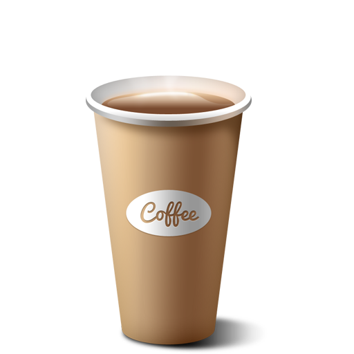 banner free Free paper cup icon. Vector coffee psd
