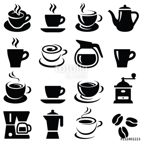 transparent download Vector coffee silhouette. Cup icon collection and
