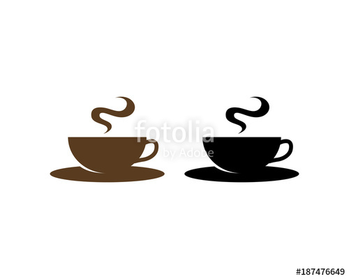 graphic black and white library Vector coffee smoke. Black and brown cup