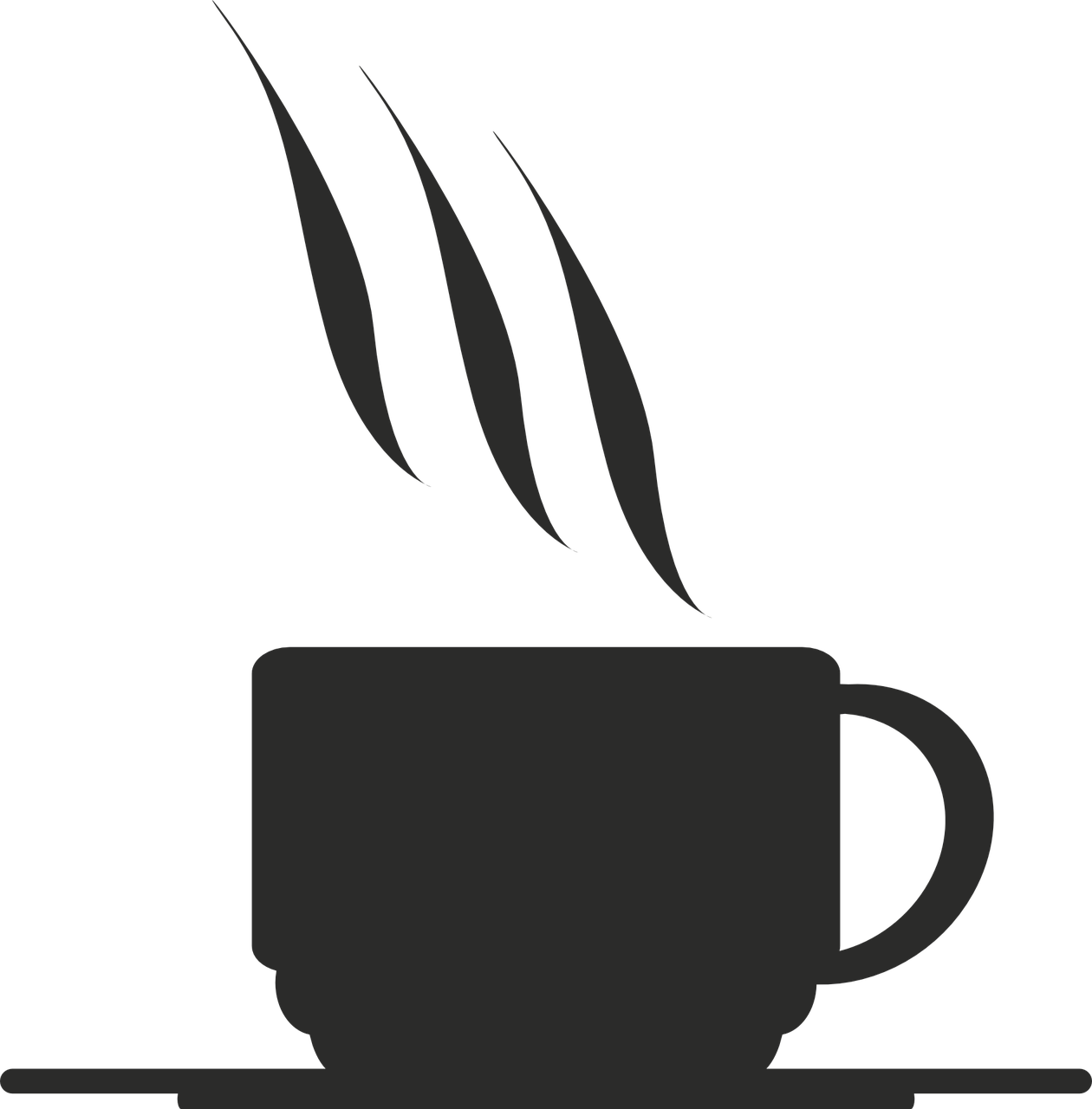 graphic freeuse library Vector coffee spilt. Cup icon symbol bar