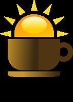 vector freeuse Coffee Shop Sun Food Logo Vector