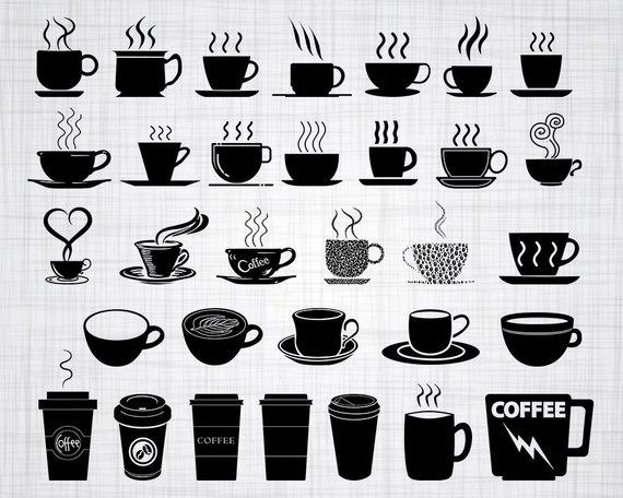 jpg download Vector coffee svg. Cup bundle clipart