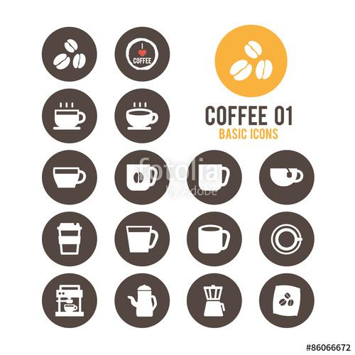 clip art transparent Coffee icon set