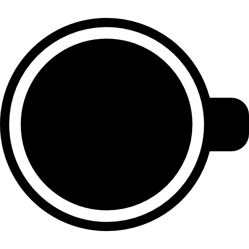 free library Vector coffee top view. Cup free food icons