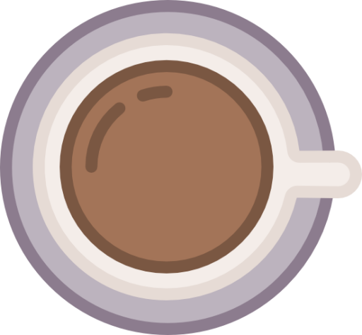 free download Vector coffee top view. Cup icon free of
